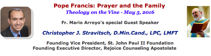 """""""Pope Francis: Prayer and the Family"""" – Video recording of presentation"""